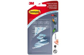 3M COMMAND HANGING TRANPARENT CLIPS